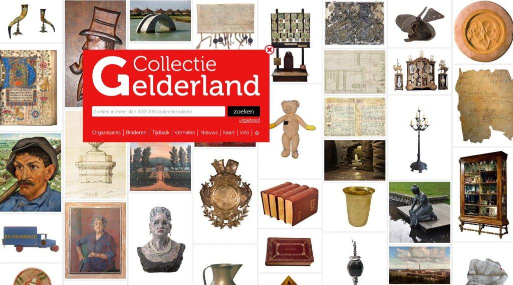 De website CollectieGelderland