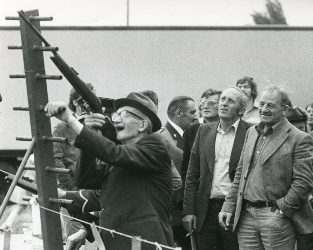 Koningschieten Schutterij St. Jan 1978. Bron Gelders Schuttersmuseum
